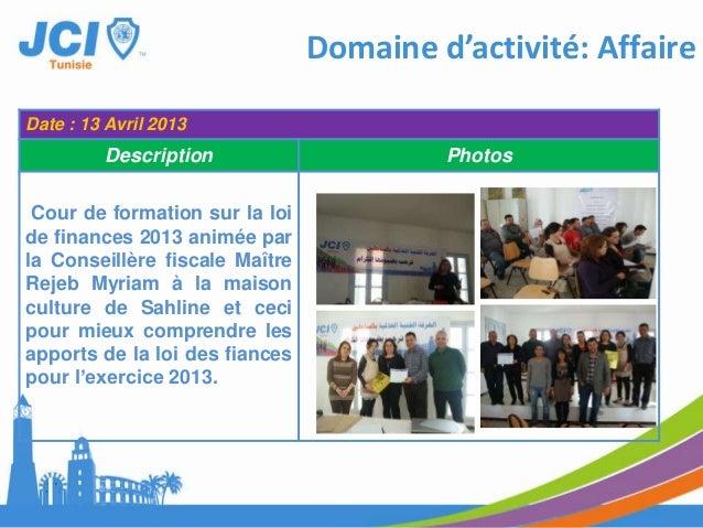 Date : Mars 2013Description Photos1-participation JCITataouine dans lesactivités du forum Socialmondial 2013 en Tunisiedan...