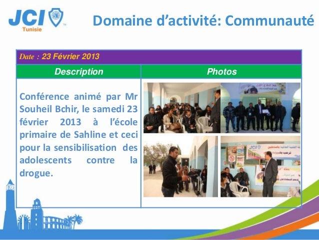 Date : Mars 2013Description PhotosDans le cadre de Jeune ChambreInternational de TATAOUINE pourpromouvoir la région de dév...