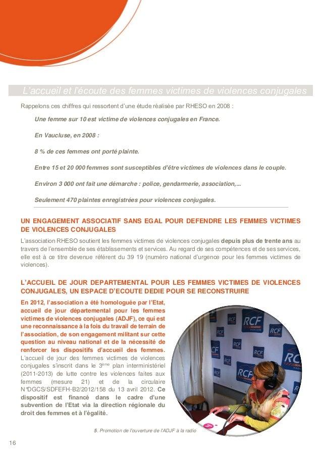 Rapport d 39 activit rheso 2013 - Porter plainte pour violence conjugale ...