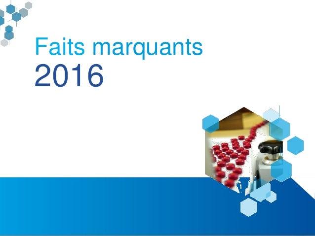 Rapport d'activités 2016 du pôle compétitivité Alsace BioValley Slide 3