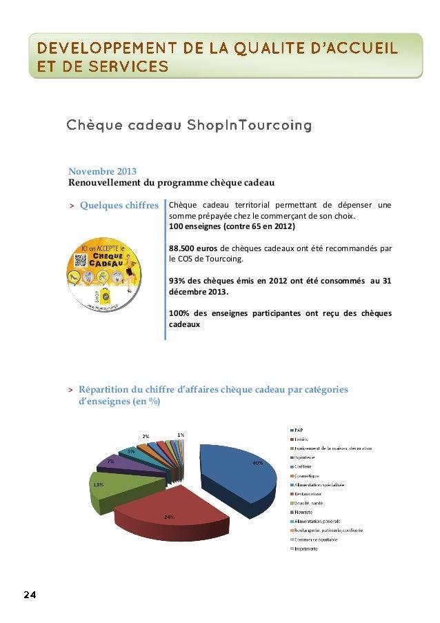 Novembre 2013 Renouvellement du programme chèque cadeau > Quelques chiffres Chèque cadeau territorial permettant de dépens...