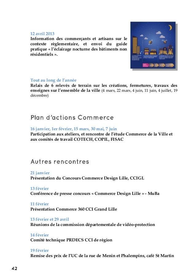 12 avril 2013 Information des commerçants et artisans sur le contexte règlementaire, et envoi du guide pratique « l'éclair...