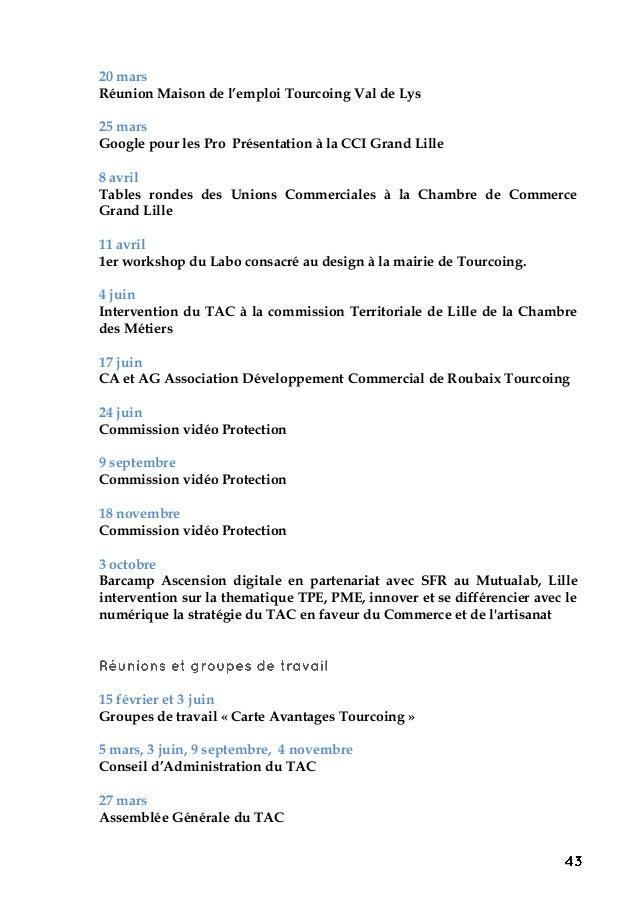 20 mars Réunion Maison de l'emploi Tourcoing Val de Lys 25 mars Google pour les Pro Présentation à la CCI Grand Lille 8 av...