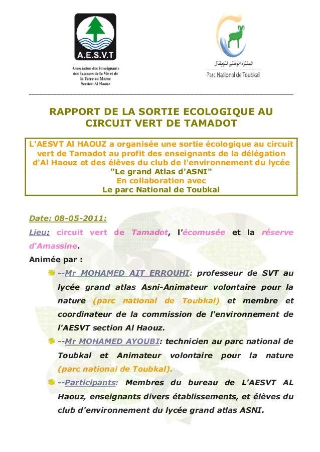 Rapport de l_excurtion_au_circuit_vert_de_tamadot_1_