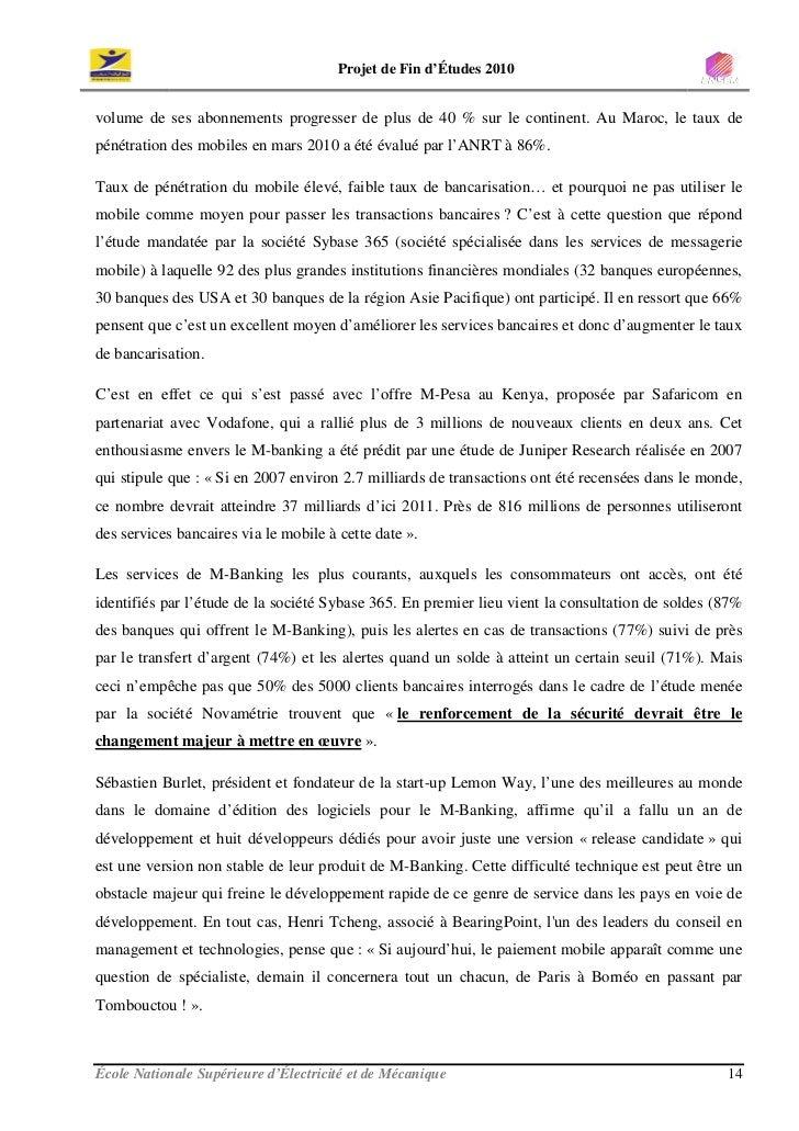 Projet de Fin d'Études 2010   volume de ses abonnements progresser de plus de 40 % sur le continent. Au Maroc, le taux de ...