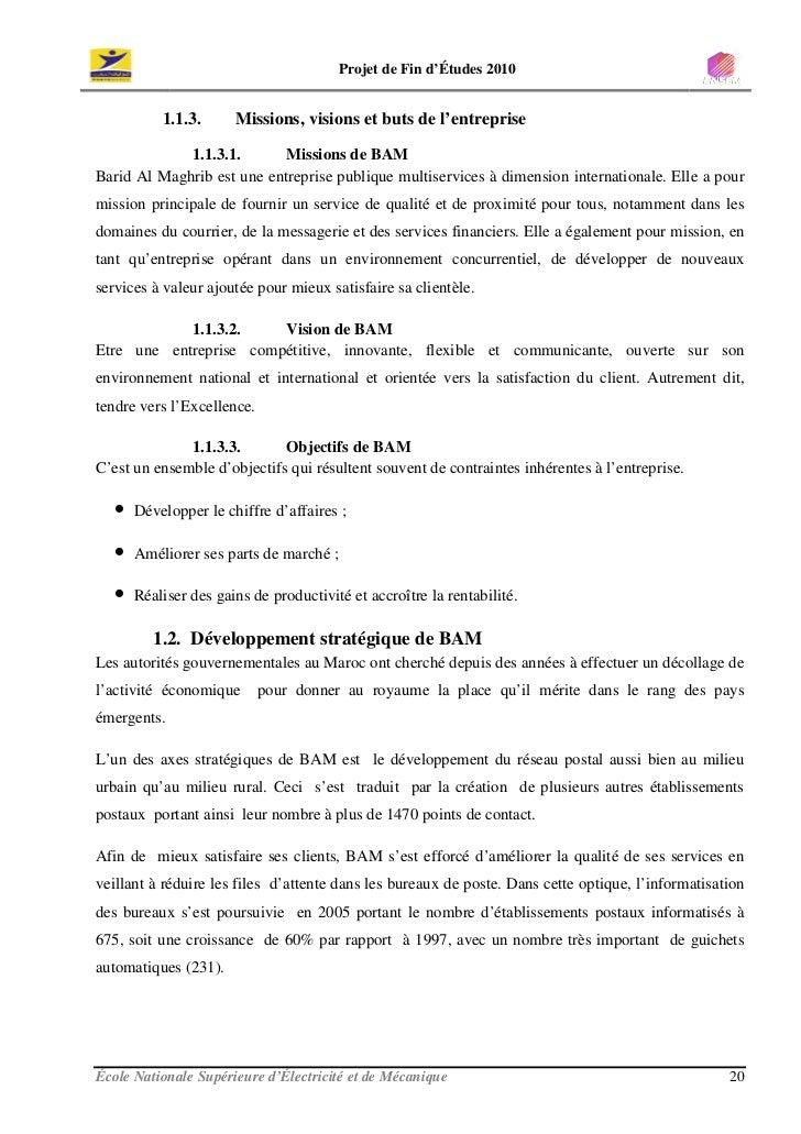 Projet de Fin d'Études 2010              1.1.3.      Missions, visions et buts de l'entreprise               1.1.3.1.     ...