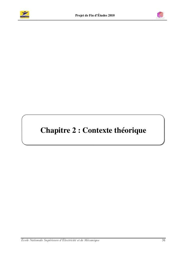 Projet de Fin d'Études 2010                  Chapitre 2 : Contexte théorique     École Nationale Supérieure d'Électricité ...