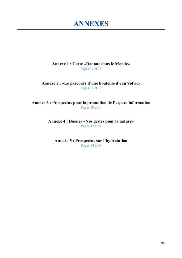 Rapport De Stage Volvic