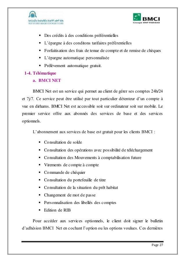 BMCI TÉLÉCHARGER RAPPORT DE STAGE