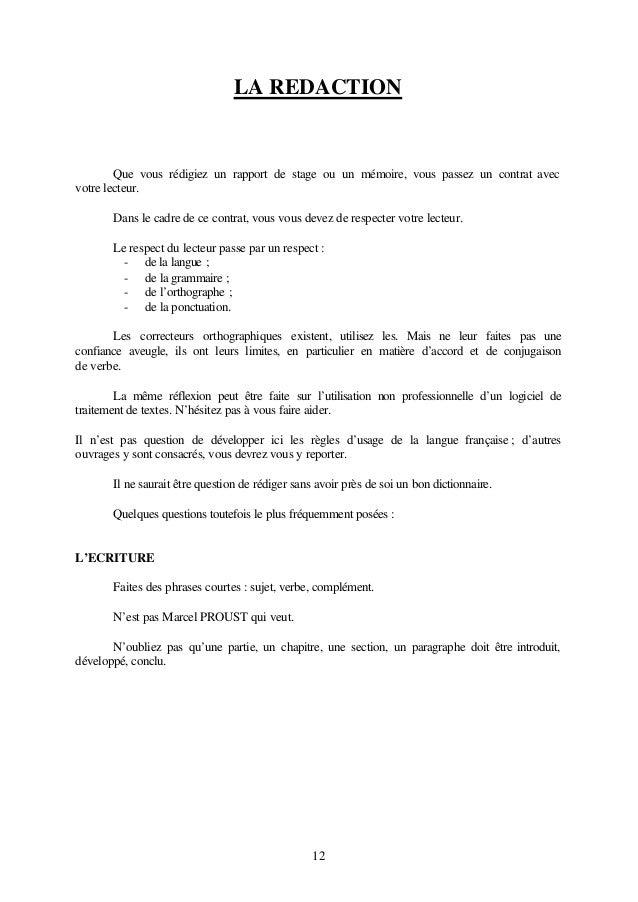 Rapport de stage 3 for Redaction sur le respect