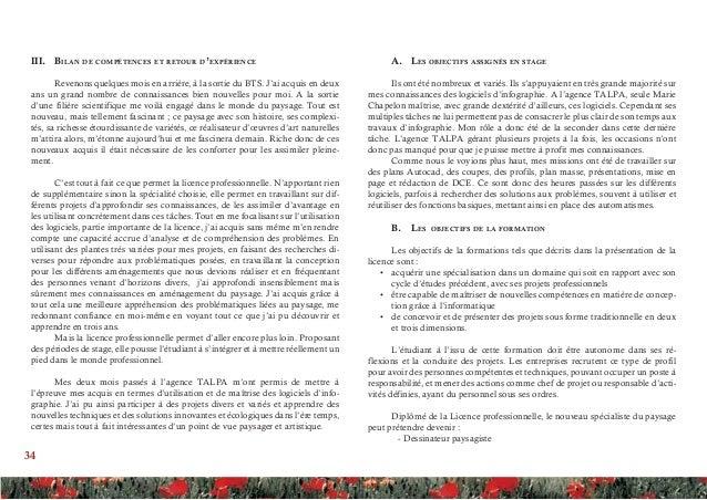 Rapport de stage agence talpa for Dessinateur paysagiste formation