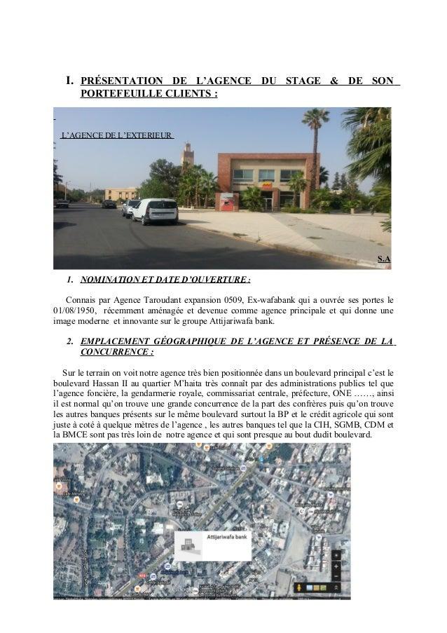 I. PRÉSENTATION DE L'AGENCE DU STAGE & DE SON PORTEFEUILLE CLIENTS : L'AGENCE DE L'EXTERIEUR S.A 1. NOMINATION ET DATE D'O...