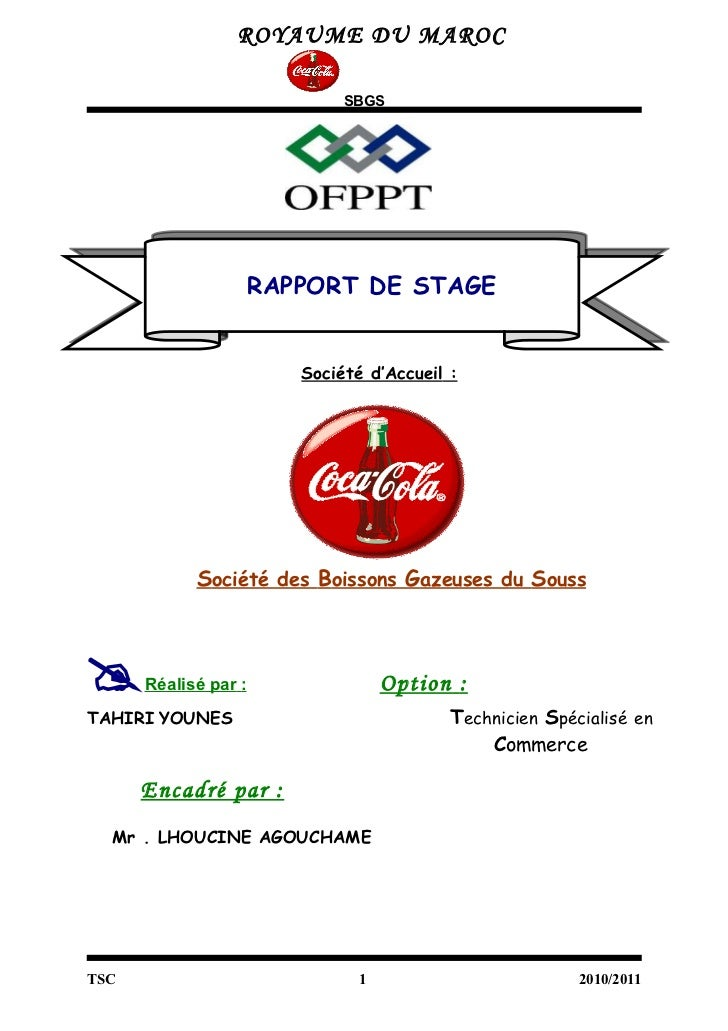 DE DE RAPPORT STAGE EXEMPLE OFPPT TÉLÉCHARGER