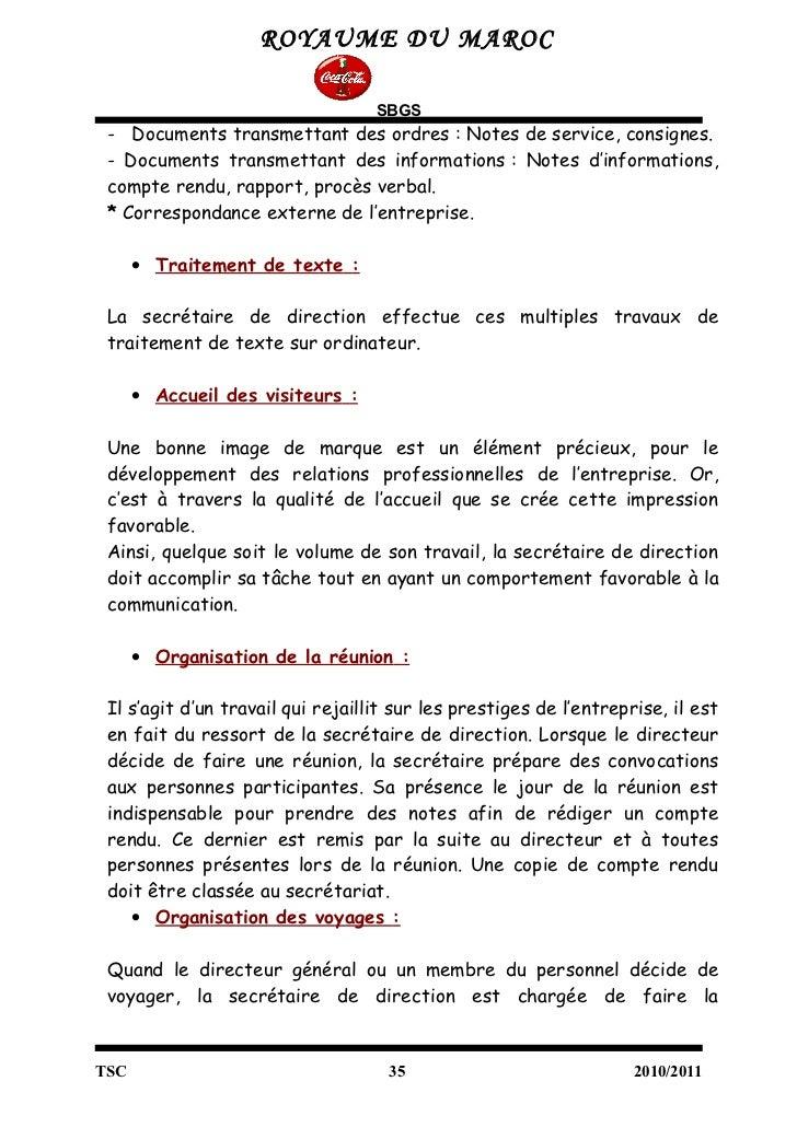 Exemple de rapport de stage journalier document online for Service aux entreprises exemple