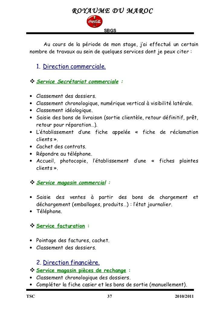 rapport de visite d entreprise pdf