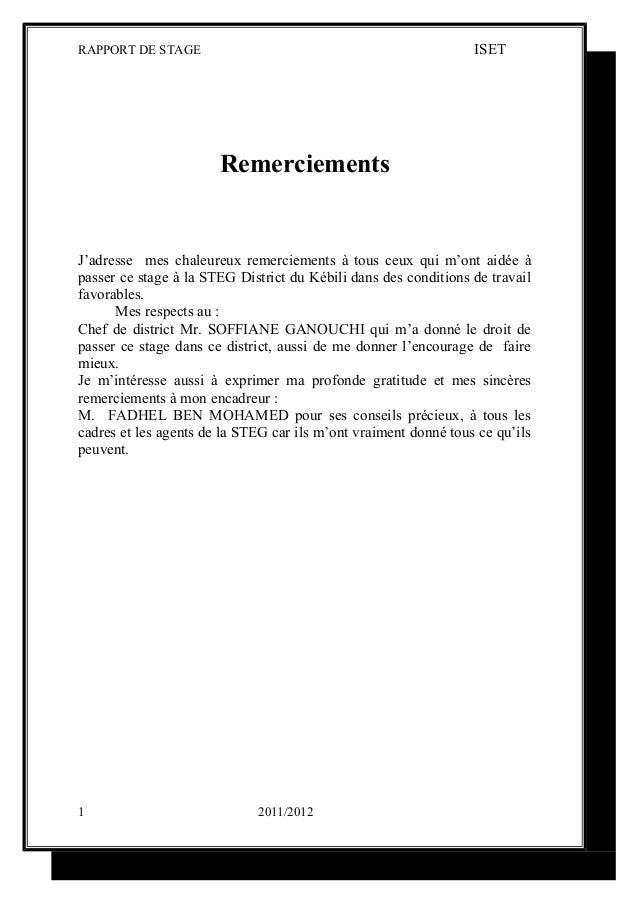 Exemple De Lettre De Remerciement De Rapport De Stage