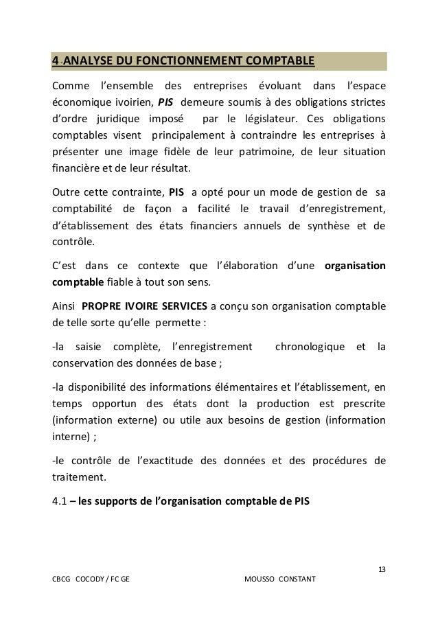 Le rapport de stage et l'UE13 du DCG