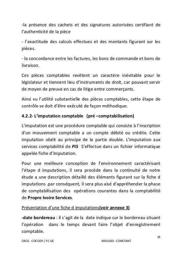 Rapport De Stage Bts Finances Comptabilite Et Gestion D Entreprises