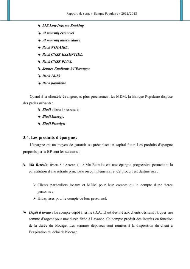 Rapport de stage « Banque Populaire » 2012/2013  LIB Low Income Bnaking.  Al mountij essenciel  Al mountij intermediare...
