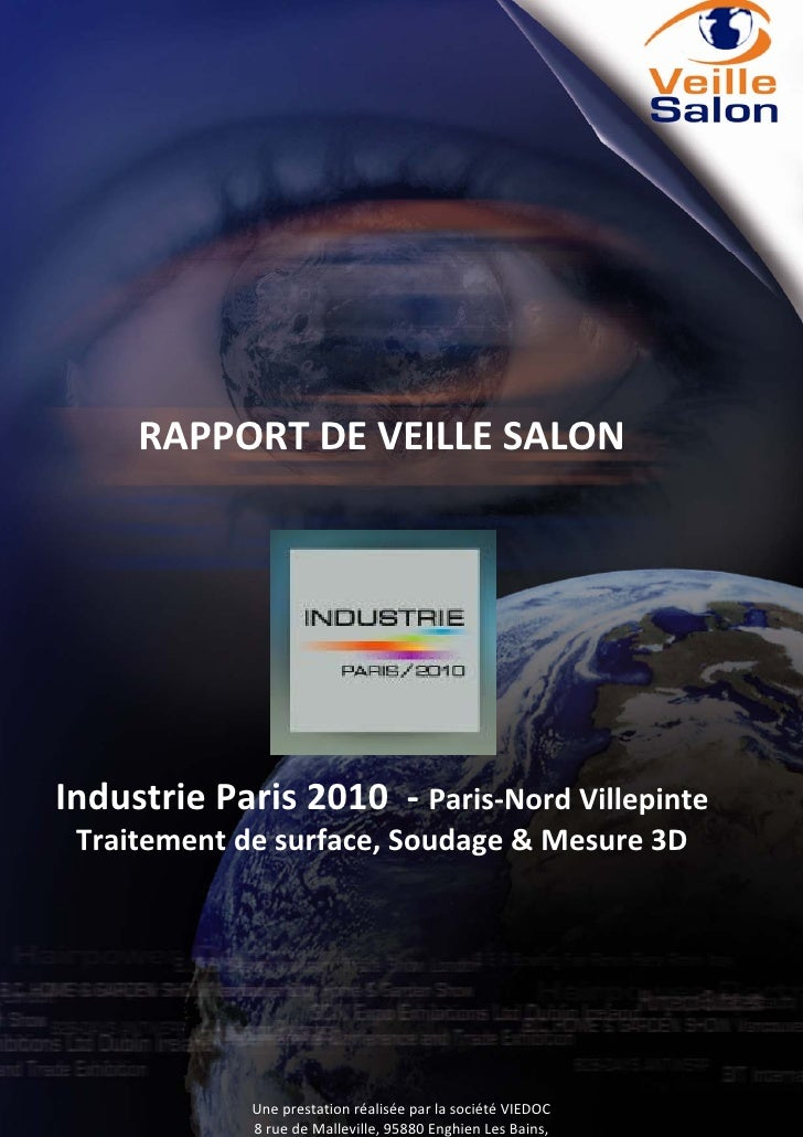 Rapport de veille salon industrie paris 2010 def