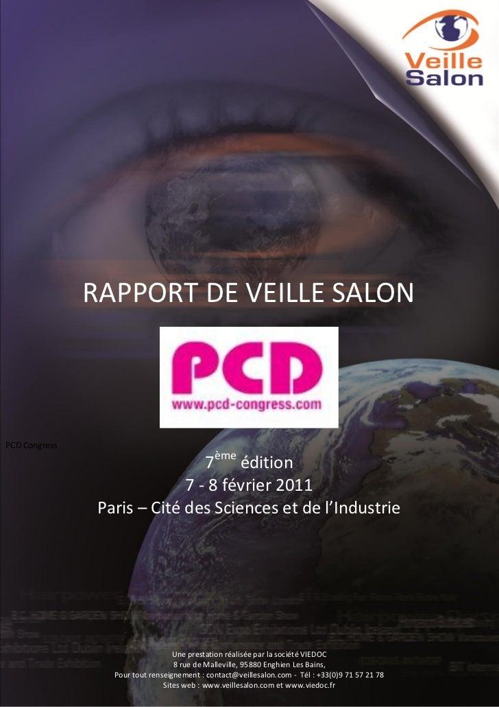 RAPPORT DE VEILLE SALONPCD Congress                                         7ème édition                                  ...