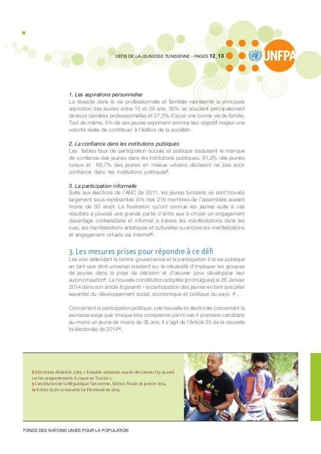 1. Les aspirations personnelles La réussite dans la vie professionnelle et familiale représente la principale aspiration d...