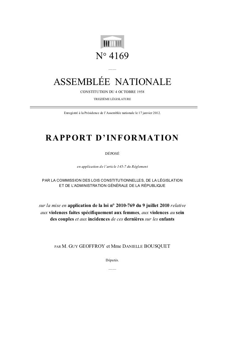 N° 4169                                            ——       ASSEMBLÉE NATIONALE                        CONSTITUTION DU 4 O...
