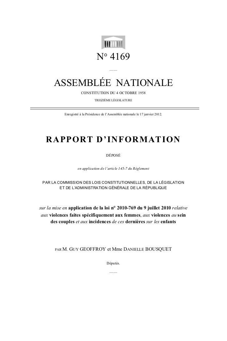 N° 4169                                            ——       ASSEMBLÉE NATIONALE                        CONSTITUTION DU 4 O...