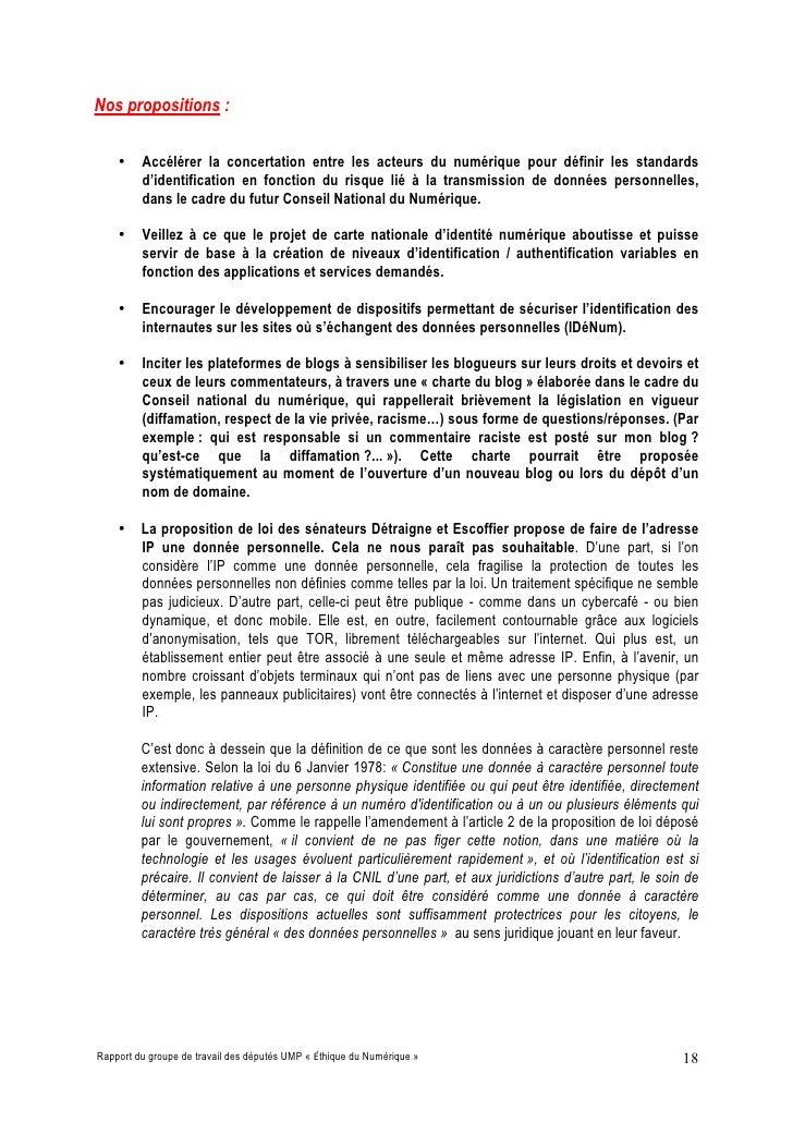 Nos propositions :      •    Accélérer la concertation entre les acteurs du numérique pour définir les standards          ...