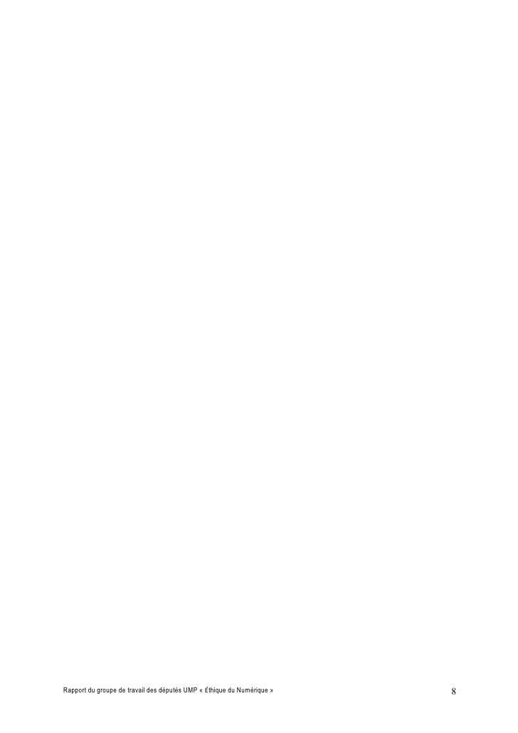 Rapport du groupe de travail des députés UMP « Éthique du Numérique »   8