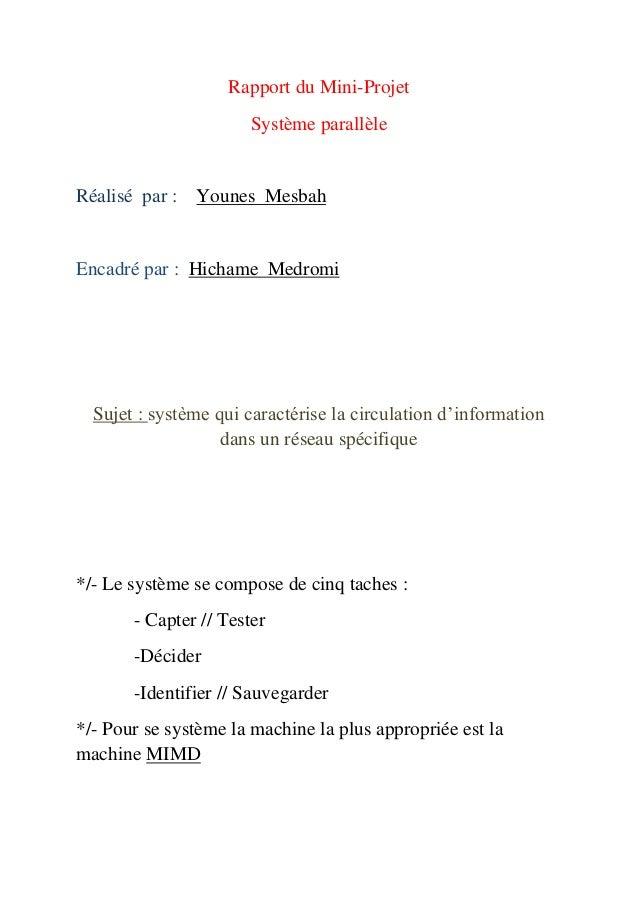 Rapport Du Mini Projet