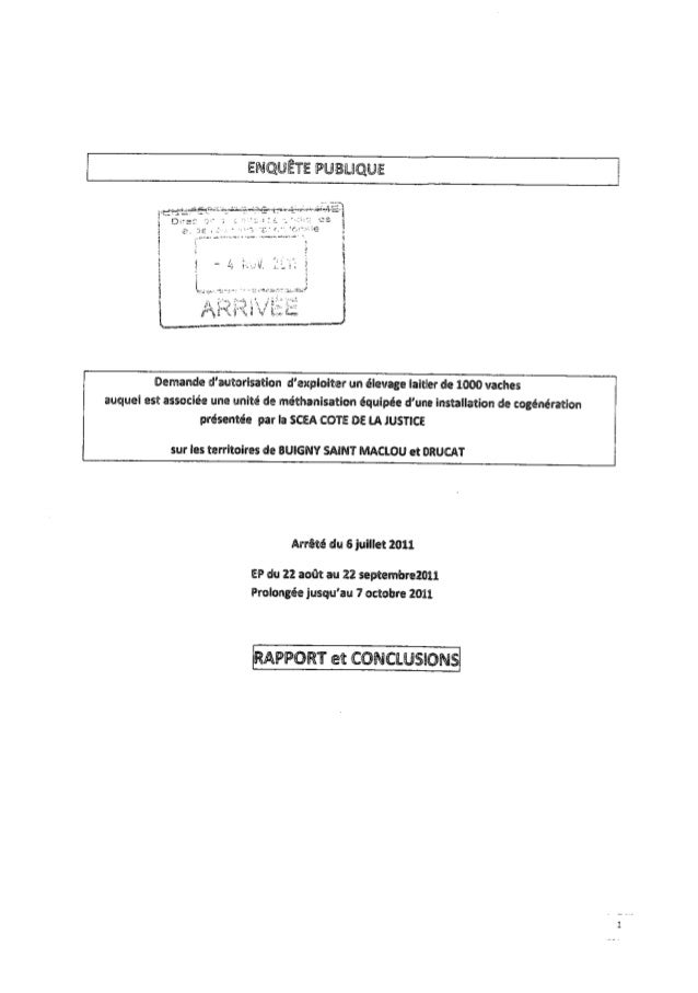 Rapport enquête publique