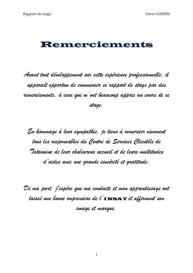 Rapport De Stage 3eme Dissertation Gratuite Comment