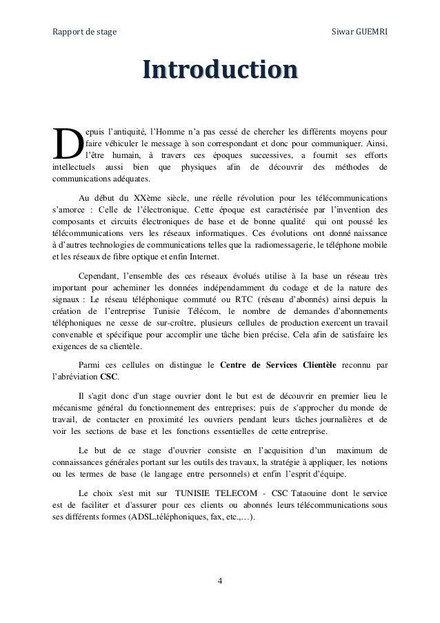Rapport stage ip msan tunisie t l com - Rapport de stage 3eme cabinet medical ...