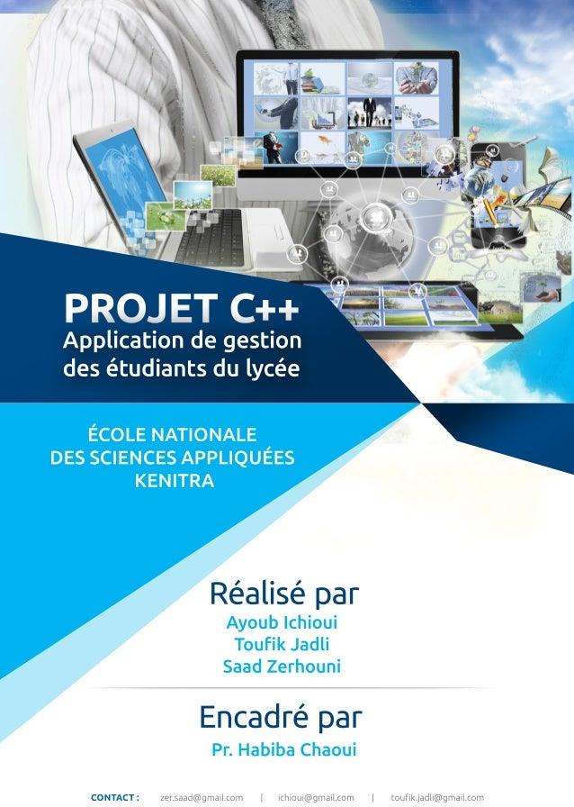 Rapport Projet Gestion Des Etudiants Avec C
