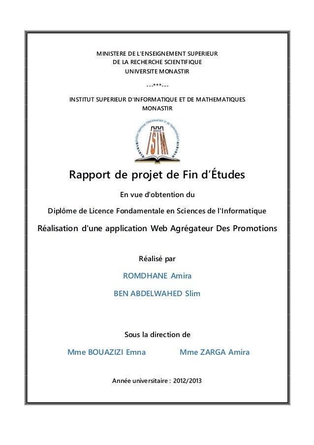 rapport pfe application web e