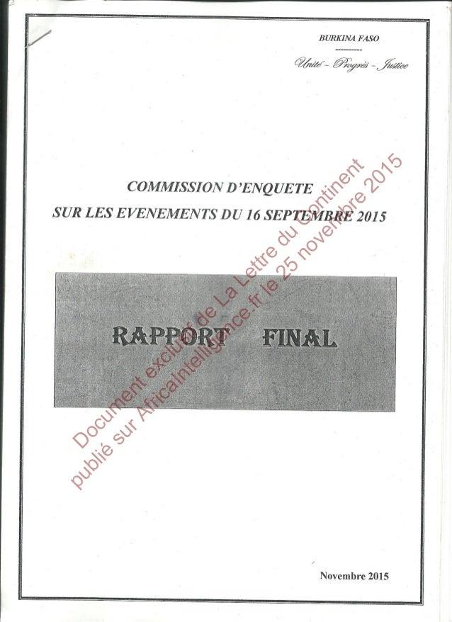 D ocum entexclusifde La Lettre du C ontinent publié surAfricaIntelligence.frle 25 novem bre 2015