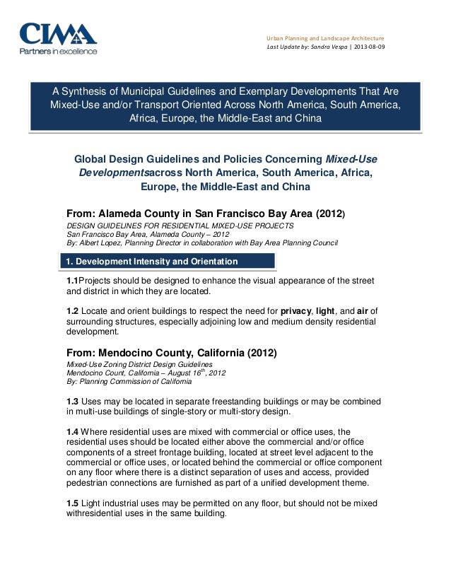 Urban Planning and Landscape Architecture Last Update by: Sandra Vespa | 2013-08-09 Global Design Guidelines and Policies ...