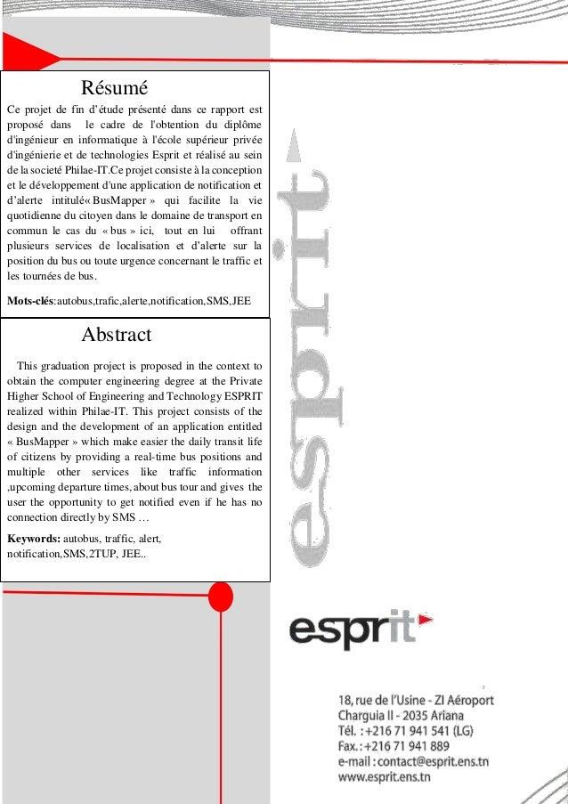 Résumé Ce projet de fin d'étude présenté dans ce rapport est proposé dans le cadre de l'obtention du diplôme d'ingénieur e...