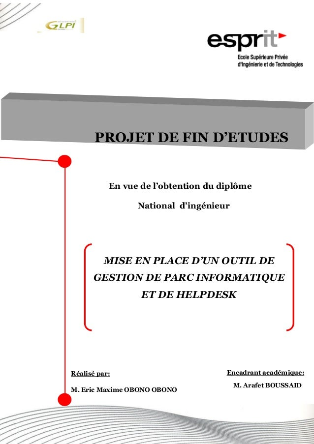 iRéalisé par Éric OBONO En vue de l'obtention du diplôme National d'ingénieur PROJET DE FIN D'ETUDES MISE EN PLACE D'UN OU...
