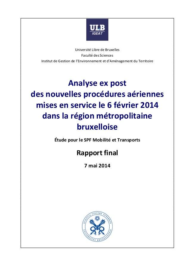 UniversitéLibredeBruxelles FacultédesSciences InstitutdeGestiondel'Environnementetd'AménagementduTerrit...