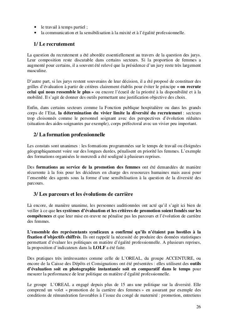 Rapport Egalite Pro Hommes Femmes Dans La Fonction Publique