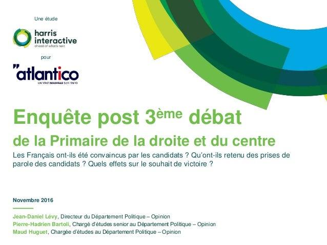 Jean-Daniel Lévy, Directeur du Département Politique – Opinion Pierre-Hadrien Bartoli, Chargé d'études senior au Départeme...