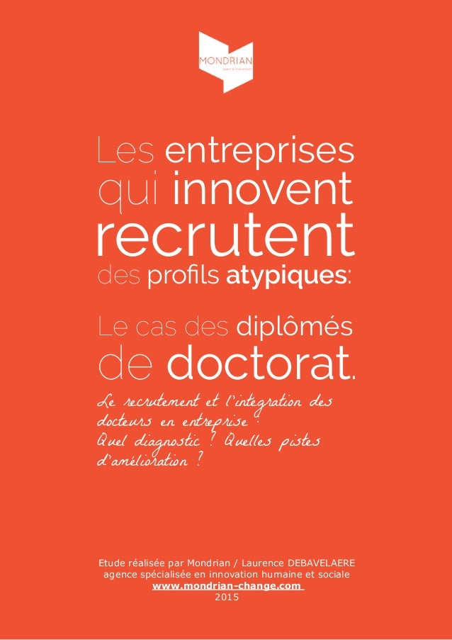 Etude réalisée par Mondrian / Laurence DEBAVELAERE agence spécialisée en innovation humaine et sociale www.mondrian-change...
