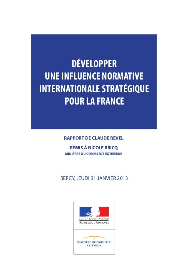 DÉVELOPPER                                    UNE INFLUENCE NORMATIVE                                  INTERNATIONALE STRA...