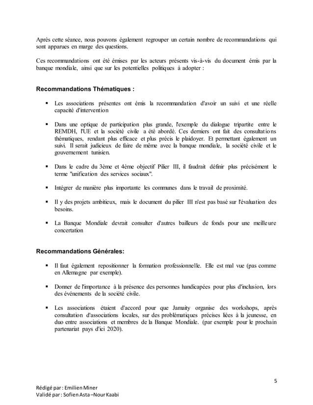 5 Rédigé par: EmilienMiner Validé par: SofienAsta–NourKaabi Après cette séance, nous pouvons également regrouper un certai...