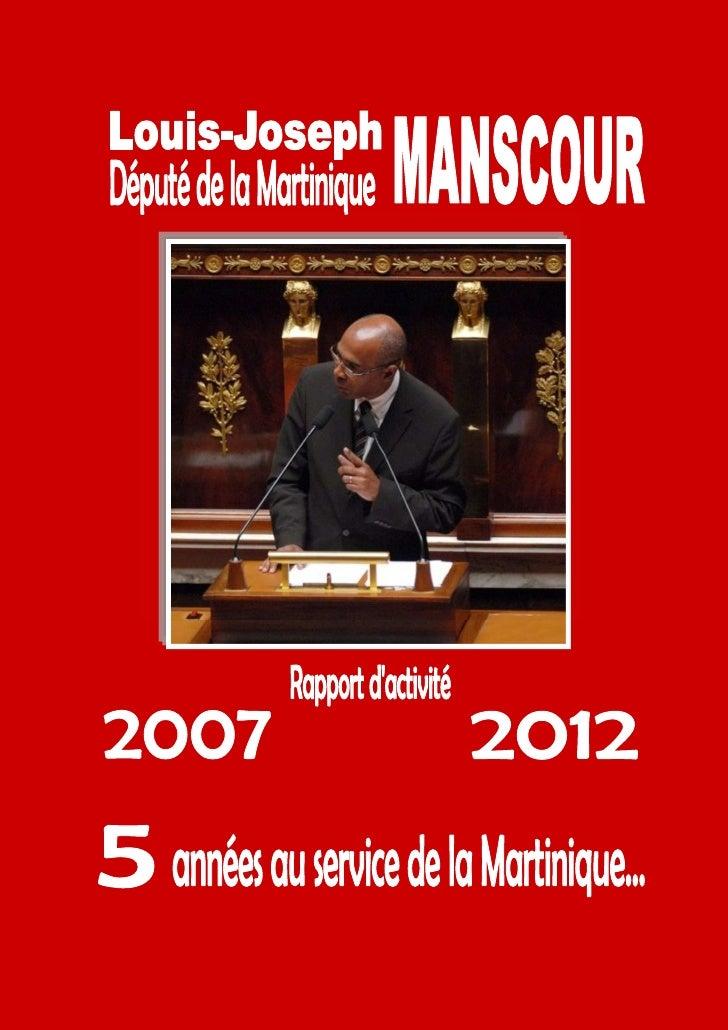 Rapport d'activité LJ Manscour 2007-2012