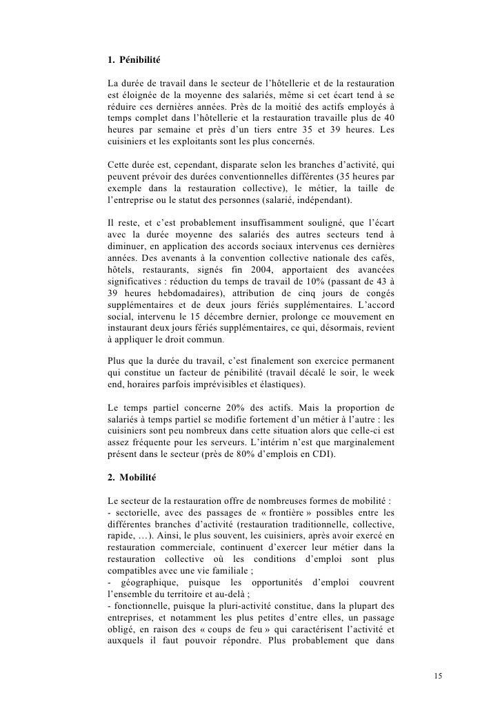 Exemple rapport de stage bts hotellerie restauration for Emploi gerant de restauration collective