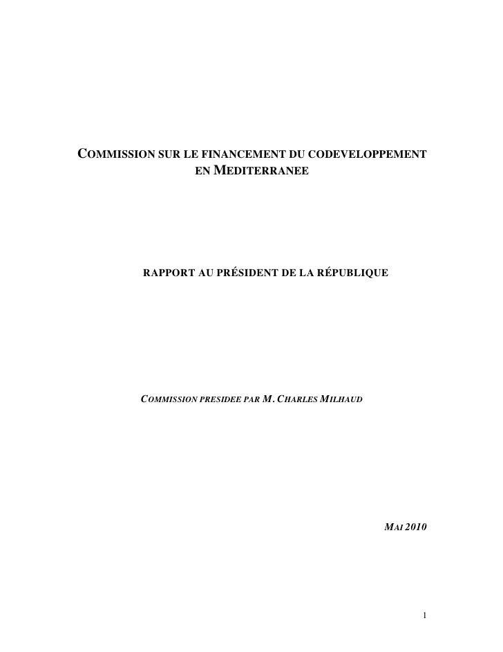 Rapport Milhaud