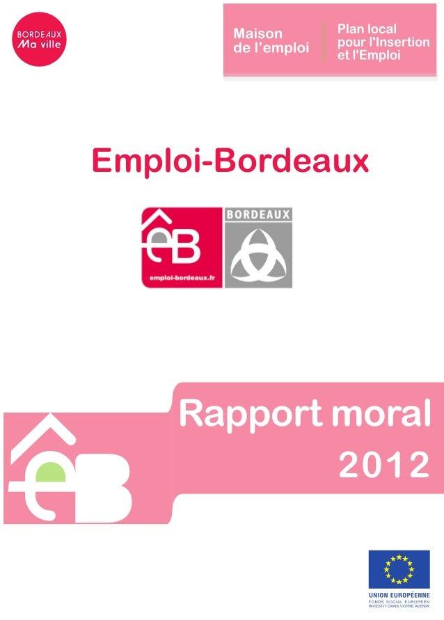 Rapport moral2012Emploi-Bordeaux